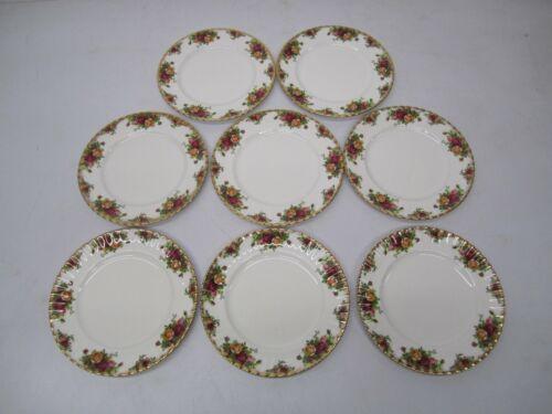 Set 8 Vtg Royal Albert England Bone China Old Country Roses Dinner Plates 10 3/8