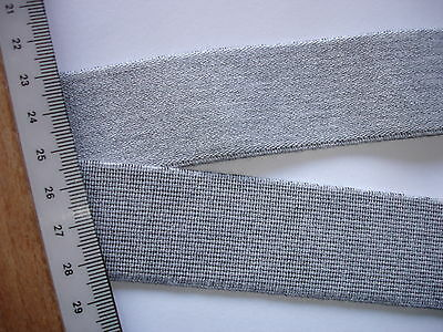 10m Gummiband 0,60€/m Bündchenware hellgrau 3 cm breit M57