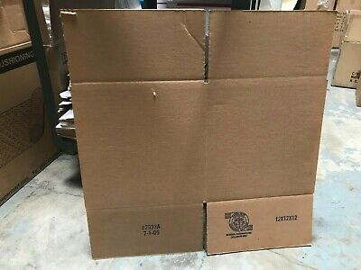 20 Of Corrugated Boxs 12x 12x12cube Carboard Shipping Box Cartonstock Sale