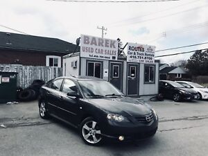 2005 Mazda3 GT | 1 YEAR WARRANTY* LOW KMS CERTIFIED***