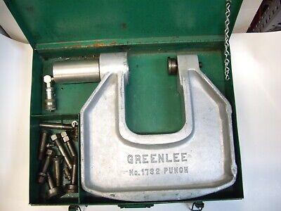 Greenlee 1732 Hydraulic Portable C-frame Punch Driver W Case