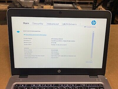 """HP EliteBook 840 G4 14"""" i5-7300U 2.6Ghz 8GB RAM 256 SSD No OS"""