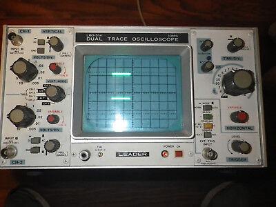 Leader Lbo-514 10mhz Dual Trace Oscilloscope