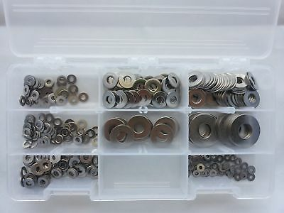 Assorted Stainless Steel Fastener Kit Flat Washers