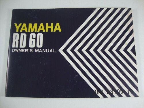1973 YAMAHA RD60 RD 60 Genuine OEM Owner