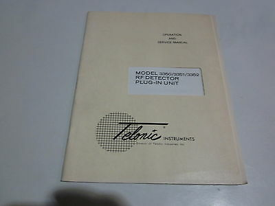 Telonic 335033513352 Rf Detector Plug-in Unit Operation Service Manual R3-s35