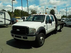 2007 Ford F-450 SD Crew Cab 4WD Diesel Dually 12 Foot Flatbed