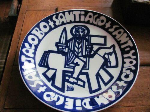 Souvenir Santiago, San Diego Ceramic Plate, Anton Patino Design, Castro, Espana