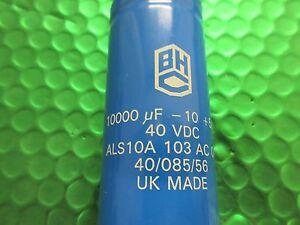 BHC Capacitor, 10000uf 40v Screw Terminal, ALS10A103AC040