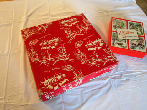 Vintage Christmas holiday gift boxes