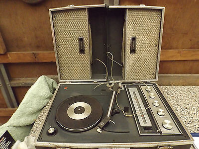 vintage old national radio record player stereo phonic 3 band super speaker case