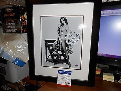 VERY RARE SEXY ANN MARGARET AUTO 8X10 FRAMED COA-PSA/DNA GREAT LEGS FREE SHIP!!