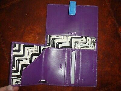 Lodis Audrey Flap (New Lodis Audrey Passport Wallet with Ticket Flap Azure/Grape. )