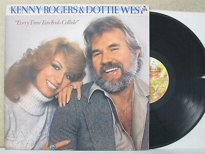 Kenny Rogers & Dottie West - Every Time Two Fools Collide LP Country Duets EX+
