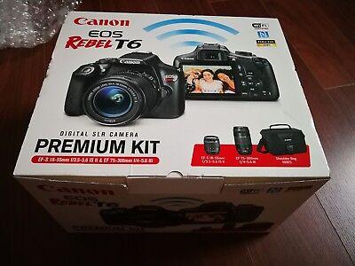New Canon Rebel T6 18-55mm and 75-300mm Lens Bag Premium Kit