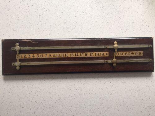 Vintage Wooden Snooker Score Board