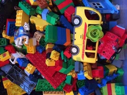 LEGO® DUPLO 1KG  BAUSTEINE DUPLOSTEINE MÄNNCHEN AUTO TIERE FIGUREN Ersatzteil...