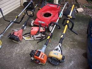 mower base 4 whippers 1 chainsaw  no bar fix or parts Cranebrook Penrith Area Preview