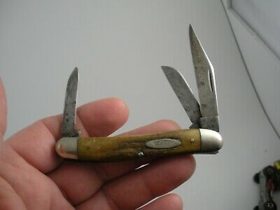 PRE 1965 CASE XX STAG STOCKMAN KNIFE # 53087 USED