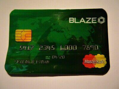 Stink Sack Blaze Master Kush XX-Small Smell Proof Credit Card Bag 1~Bag - Blaze Card