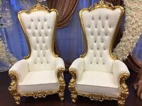 Throne Chairs+Chiavari Chairs+Seat Covers⚜️Event chairs⚜️