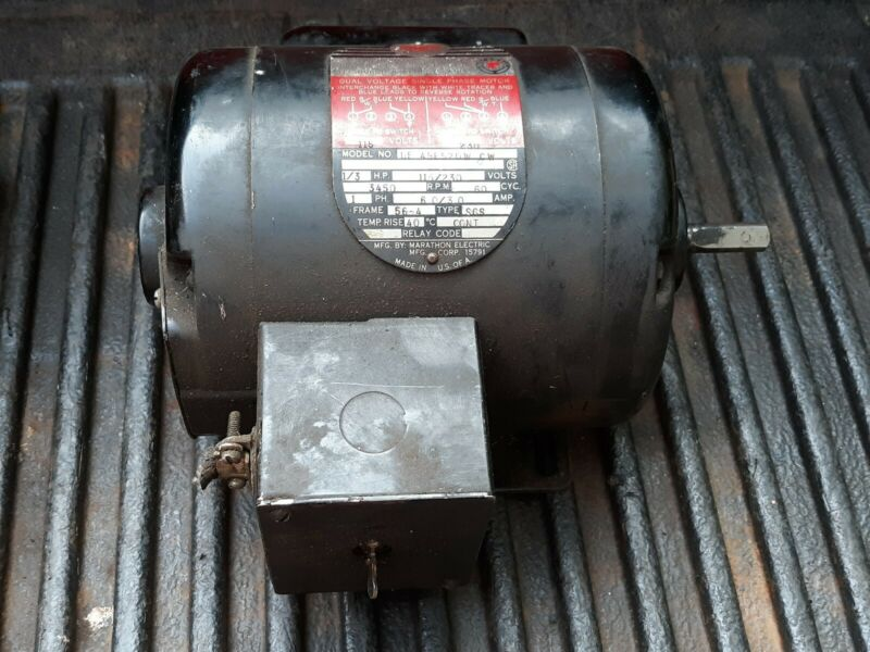 """Vintage Delta Rockwell 1/3 HP Motor 3450 RPM 1/2"""" Shaft With Special Switch"""