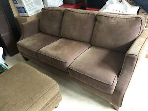 Sofa couch and footstool