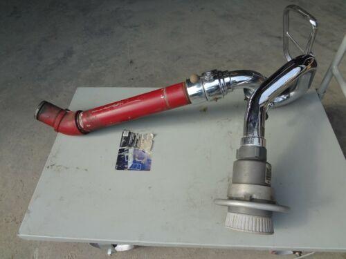 Elkhart Monitor Fire Truck Deck Gun Chrome with Nozzle