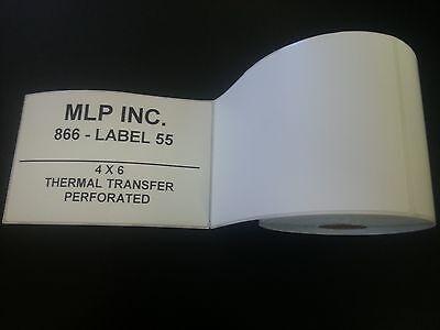 500 Rolls 4 X 6 Zebra Direct Thermal Shipping Printer Labels 250125000