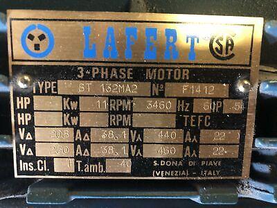 Lafert Motors 15 Hp - 3 Phase Motor - Kw 11 - Rpm3460