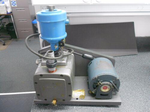 PRECISION SCIENTIFIC 69076 VACUUM PUMP & GE 5XBH002-D 1/3 HP MOTOR
