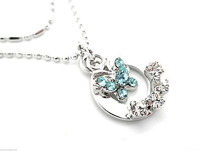 Anklet Ankle Bracelet Blue Crystal Butterfly Toe Ring Women (Crystal Butterfly Toe Ring)