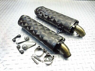 2013 12-13 DUCATI MONSTER 696 Two Brothers Racing Left Right Exhaust Pipes Set