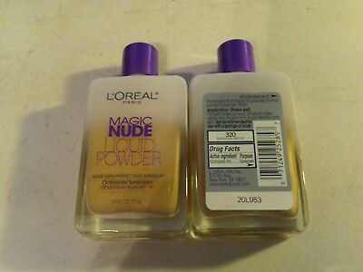 Natural Perfecting Powder Foundation - 1 bottle  LOREAL MAGIC NUDE LIQUID POWDER PERFECTING MAKEUP 320 NATURAL BEIGE