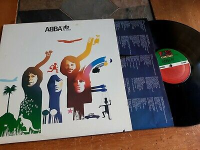 ABBA The Album LP ATLANTIC SD19164 US 1977 w/ P/S Lyric Inner