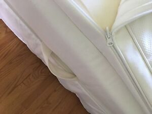 Hjartdal IKEA king pillow top mattress 2 box springs 10 ss legs
