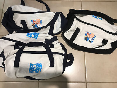 "Lot 4 Boss Baby Duffel Bag Bags 18"" x 10"" x 10"" Zippered Closure adj. straps"