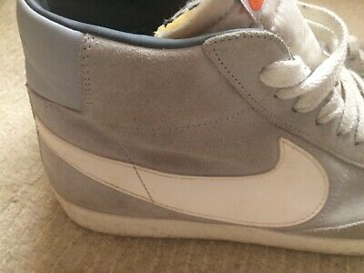 "Mens NIKE Blazer Mid """"77 Light Grey Suede Trainers 11"