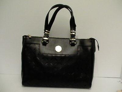 Versace womens handbag new borsa black leather tote vitello nappato laser cut