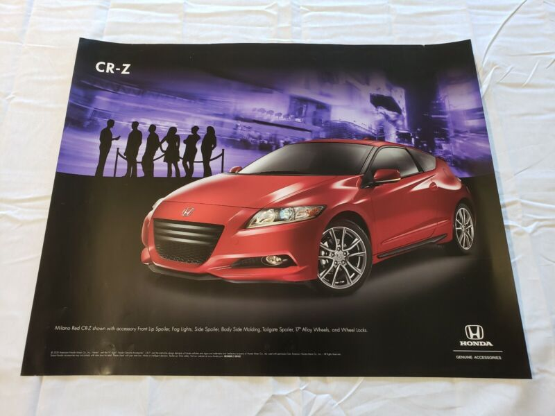"""2011 Honda CR-Z Accessories Promotional Dealership Poster 20""""×16"""" USA"""