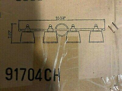 Kenroy Home Riley 4-Light Chrome Wall Vanity 91704CH