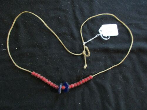 """NATIVE AMERICAN BEADED NECKLACE, VINTAGE, OLD """"PAWN"""" BEADS,  OTT-0721*05721"""