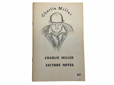 Charlie Miller Lecture Notes: Cups & Balls, Card Tricks, Rope Routine 1967