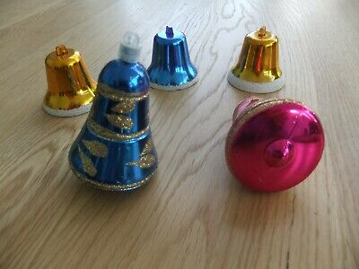 VINTAGE / RETRO CHRISTMAS BELL DECORATIONS - 1970's - SWAN PRODUCT