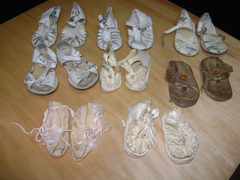BABY SHOES  VINTAGE LOT OF