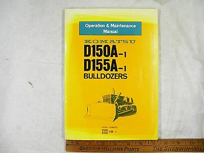 Komatsu D150a-1 155a-1 Operation Maintenance Manual 7190-