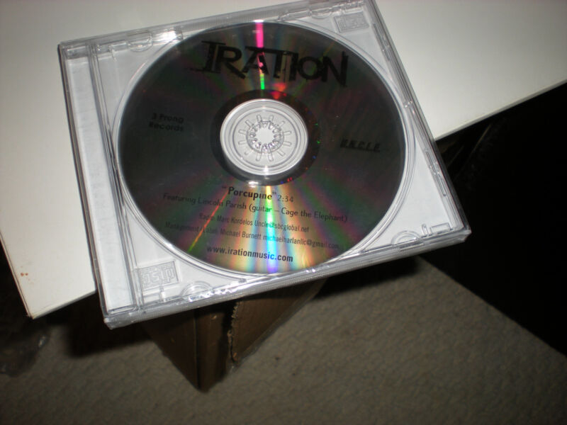 Iration Porcupine sealed CD SINGLE one track feat Lincoln Parish