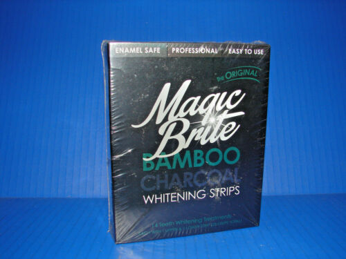 MagicBrite Bamboo Charcoal Teeth Whitening Strips At Home Kit Beauty **NEW** ^^^