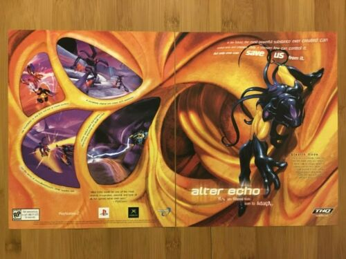 Alter Echo PS2 Xbox 2003 Vintage Print Ad/Poster Official Video Game Promo Art