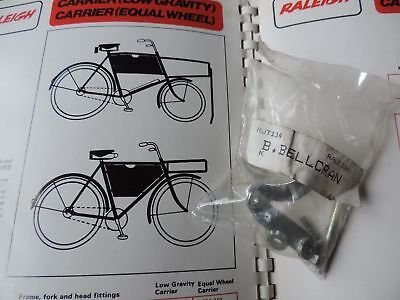 NOS RARE VINTAGE RALEIGH BUTCHERS CARRIER BICYCLE BOTTOM BELL CRANK RJT 114